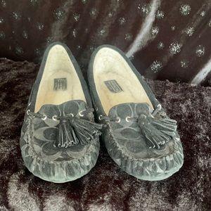 Coach Q1756 ANITA Embossed Shearling Moc shoes